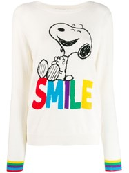 Chinti And Parker Smile Print Jumper White