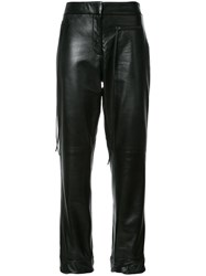 Hellessy Emir Cuffed Hem Cigarette Trousers Black