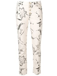 Dorothee Schumacher Printed Skinny Jeans White