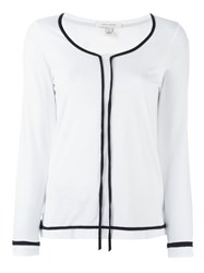 Marc Jacobs Contrast Trim Top White