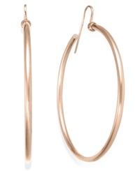 Sis By Simone I Smith Round Hoop Earrings In 18K Rose Gold Over Sterling Silver