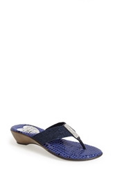 Love And Liberty 'Summer' Thong Sandal Women Navy