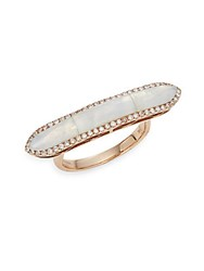 Meira T Opal Flat Top Ring Rose Gold