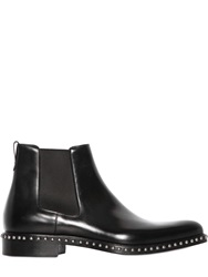 Givenchy Studded Brushed Leather Chelsea Boots Black