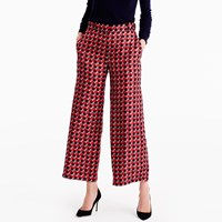 J.Crew Collection Pleated Wide Leg Pant In Ratti Geometric Tile Print