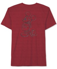 Jem Men's Mickey Mouse Keepin' It Classy Graphic Print T Shirt Chinese Red