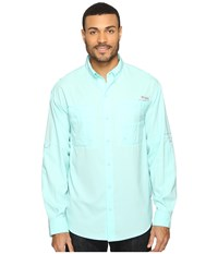 Columbia Tamiami Ii L S Gulf Stream Men's Long Sleeve Button Up Blue