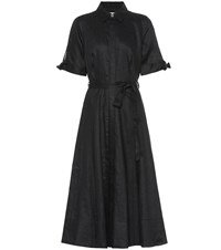 Equipment Irenne Linen Shirt Dress Black