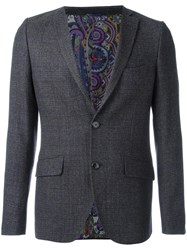 Etro Tweed Blazer Grey