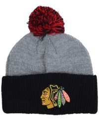 New Era Chicago Blackhawks Flag Stated Cuff Knit Hat Gray Black