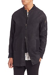 Madison Supply Long Bomber Jacket Caviar