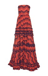 Alexis Clare Strapless Gown Red