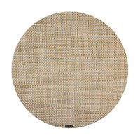 Chilewich Basketweave Round Placemat White Gold