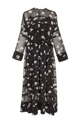 Carven Tiered Floral Midi Dress