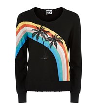 Pam And Gela Palm Rainbow Sweater Female Black