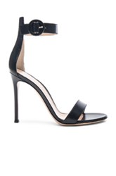 Gianvito Rossi Leather Ankle Strap Heels In Black