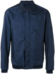 Paul And Shark Collared Bomber Jacket Blue