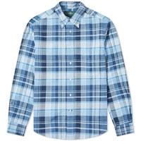 Gitman Brothers Vintage Archive Madras Shirt Blue