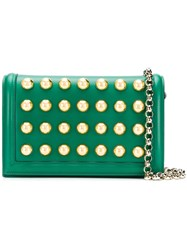 Elie Saab Dome Stud Shoulder Bag Green