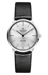 Hamilton Intra Matic Automatic Leather Strap Watch 38Mm
