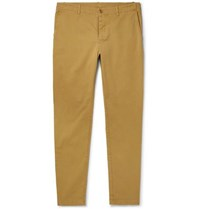 Ymc Slim Fit Tapered Cotton Blend Twill Trousers Beige