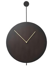 Ferm Living Trace Stainless Steel Wall Clock Black