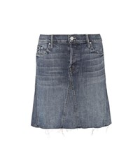Mother Denim Mini Skirt Blue