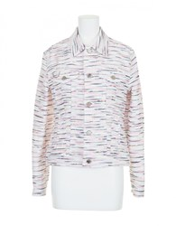 Julien David Jacket White Pink
