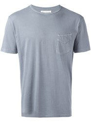 Officine Generale Basic T Shirt Blue