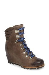 Sorel 'Conquest' Waterproof Wedge Boot Kettle Aviation