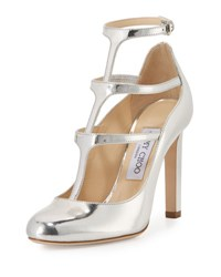 Jimmy Choo Doll Caged Leather 100Mm Pump Silver