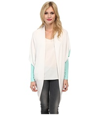 Tart Darla Cardigan Oatmeal Mint Women's Sweater White