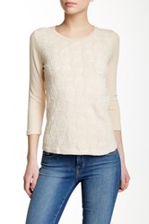 J.Crew Factory Embroidered Front Tee Beige