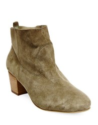 Steve Madden Harber Suede Ankle Length Booties Olive Green