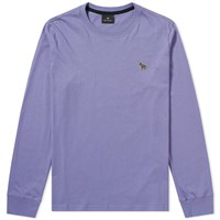 Paul Smith Long Sleeve Zebra Logo Tee Purple