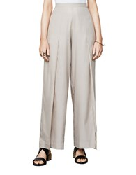 Bcbgmaxazria Michael Slit Wide Leg Pants Light Stone