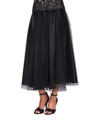 Alex Evenings T Length Full Skirt Black
