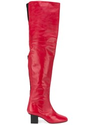 Marc Ellis Thigh Length Boots Red