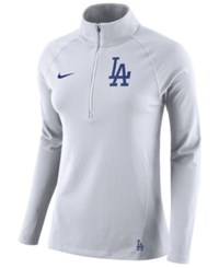 Nike Los Angeles Dodgers Half Zip Element Pullover White