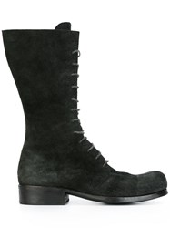 Dimissianos And Miller Mid Calf Lace Up Boots Black