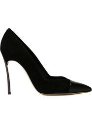 Casadei Contrasting Toe Cap Pumps Black