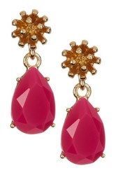 Trina Turk Flower Pear Drop Earrings Pink