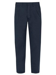The Gigi Santiago Cotton Trousers Navy