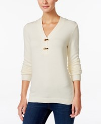 Charter Club Henley Sweater Only At Macy's Vanilla Bean