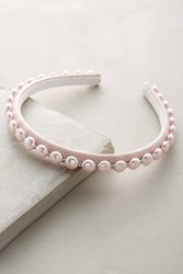 Anthropologie Pearl Headband Pink