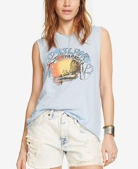 Denim And Supply Ralph Lauren Jersey Graphic T Shirt Blue