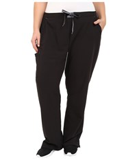 Jockey Plus Size Modern Convertible Drawstring Waist Pants Black Women's Casual Pants