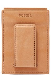Fossil Men's Ford Leather Money Clip Card Case