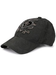 Dolce And Gabbana Dg Patch Baseball Cap Black
