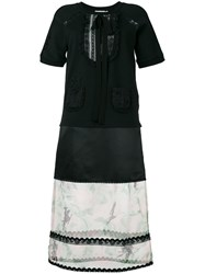 Coach Floral Sheer Detail Dress Black